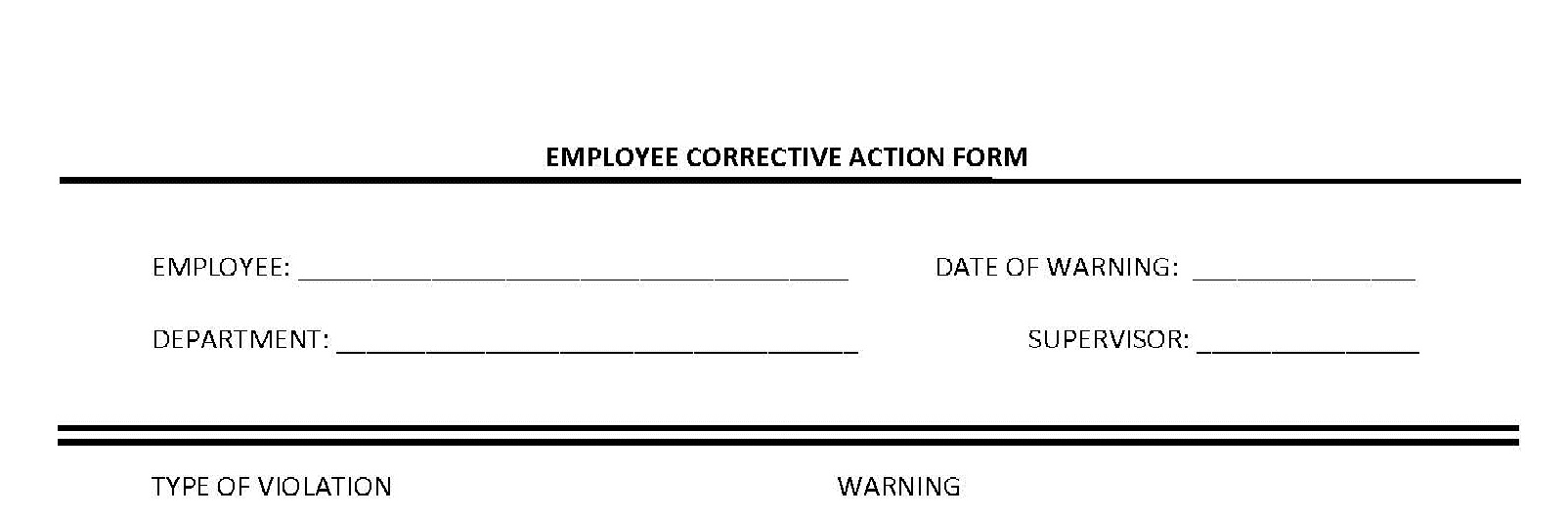 disciplinary write up form